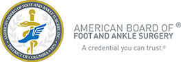 Logo Recognizing Dr. Bruce A. Scudday DPM, PA's affiliation with American Board of Foot and Ankle Surgery