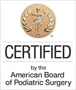 Logo Recognizing Dr. Bruce A. Scudday DPM, PA's affiliation with American Board of Podiatric Surgery