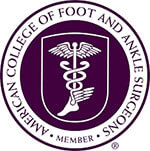 Logo Recognizing Dr. Bruce A. Scudday DPM, PA's affiliation with American College of Foot & Ankle Surgeons